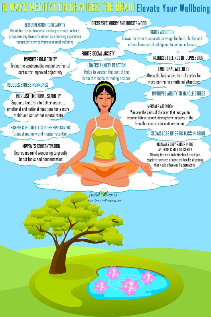 16 ways Meditation change the Brain