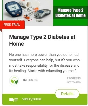 Manage Type 2 Diabetes at Home Use various natural therapies, good eating habits, exercises, yoga & reflexology.