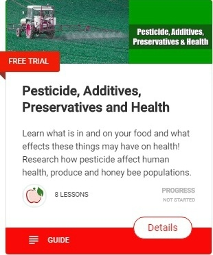 Pesticide, Additives, Preservatives and healthy natural living, green, organic lifestyle