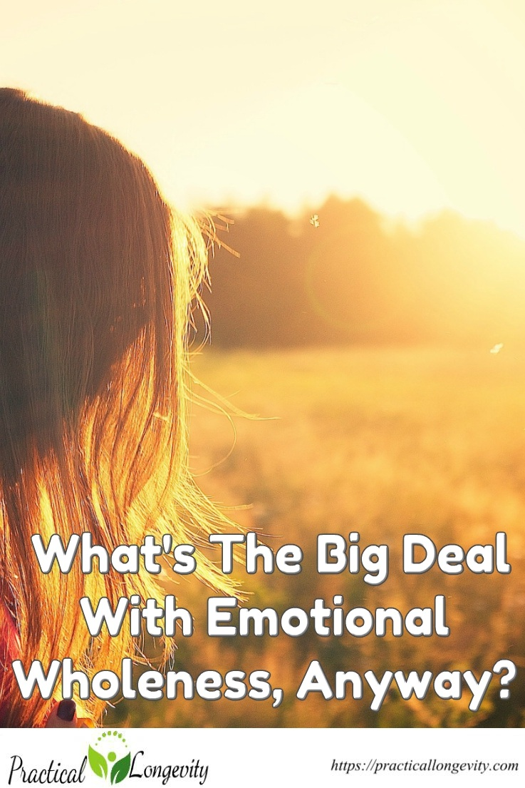 What's The Big Deal With Emotional Wholeness, Anyway? You have to remember that your personal happiness is your responsibility. You cannot ignore it. You have to always take ownership of it and incorporate it into your daily decisions. It doesn't take much to live a balanced life.