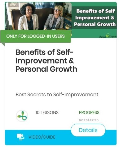 benefits of self improvement personal growth -course