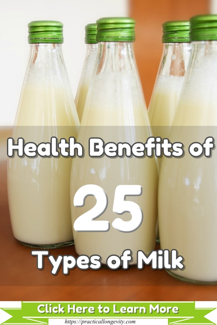 Health Benefits of 25 Types of Milk; What Is the Best Milk to Drink [Nutritional Value] Not all types of milk are equally, and depending on your health needs, you need to consider each one's attributes to make the healthiest & smartest choice