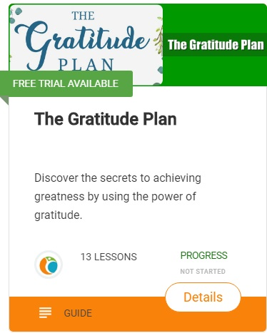the gratitude plan helps when Feeling Temperamental or Obsessive, and with our emotional distress