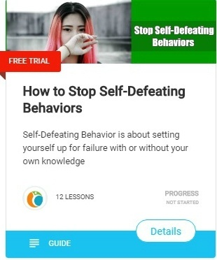Self-Defeating Behavior and leading a genuine life is about setting yourself up for failure with or without your own knowledge - how to stop Self-Defeating Behaviors1