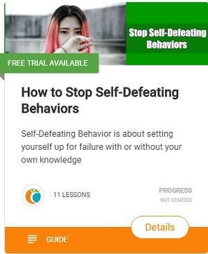 how to stop Self-Defeating Behaviors1