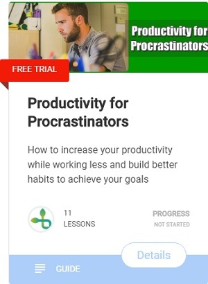 Productivity for Procrastinators-course