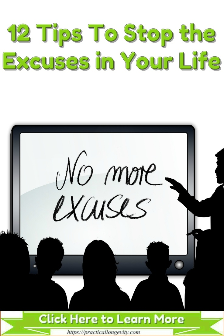 Your excuses come from deeply emotional places. Be contend with those strong emotions as you change your behaviors. Focus on solutions, opportunities, and lessons learned instead of all the things that may be holding you back in life. Soon, you will have no need for excuses. Take responsibility for what you can do today, let others worry, and you can soon find ways to achieve everything.
