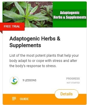 List of the most potent plants that help your body adapt to or cope with stress and alter the body's response to stress.