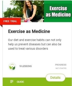 Our diet and exercise habits can not only help us prevent diseases but can also be used to treat various disorders