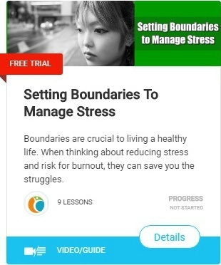 Boundaries are crucial to living a healthy life. Specifically, when thinking about reducing stress and risk for burnout, boundaries can save you the serious consequences.